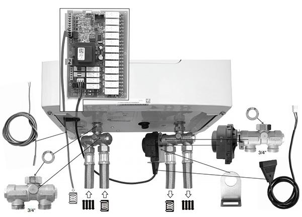 Комплект с 3-ходововым клапаном FUGAS