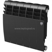 Биметаллический радиатор Royal Thermo BiLiner 350 Noir Sable 6 секций