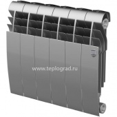 Биметаллический радиатор Royal Thermo BiLiner 350 Silver Satin 6 секций