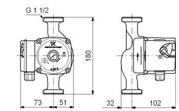 Этот трехскоростной насос предназначен для работы в системах... долговечность насоса Grundfos... простое...