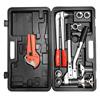 Универсальный комплект механического инструмента Stout для труб PEX и аксиальных фитингов (16-32)